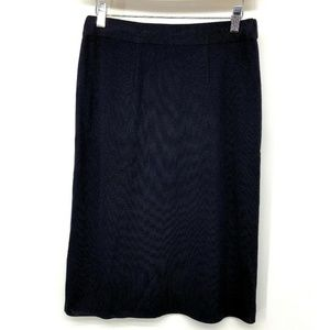 Misook Womens Skirt Blue Stretch Straight Pleated